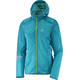 Salomon Lightning Wind Hoodie Women enamel blue